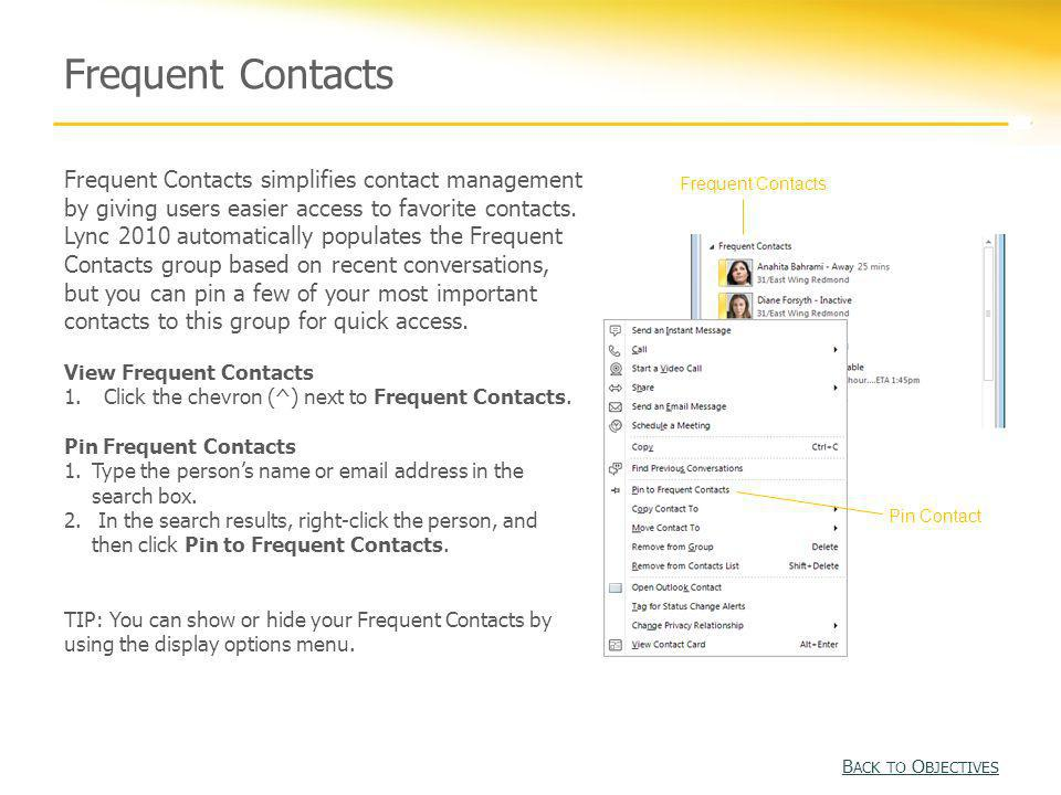 Frequent Contacts