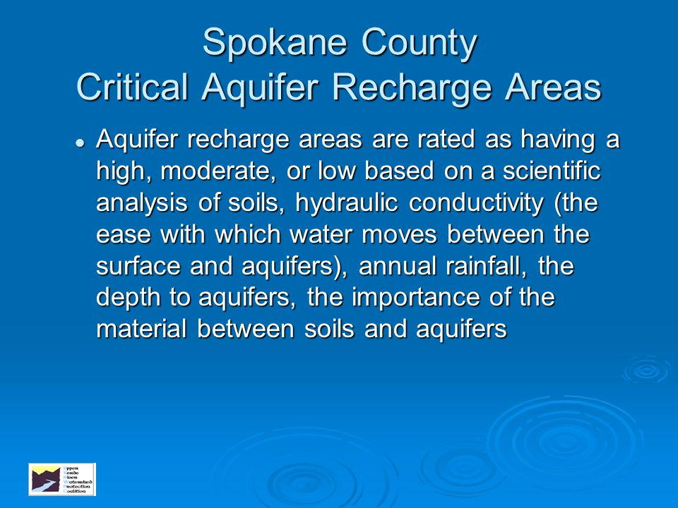 Spokane County Critical Aquifer Recharge Areas