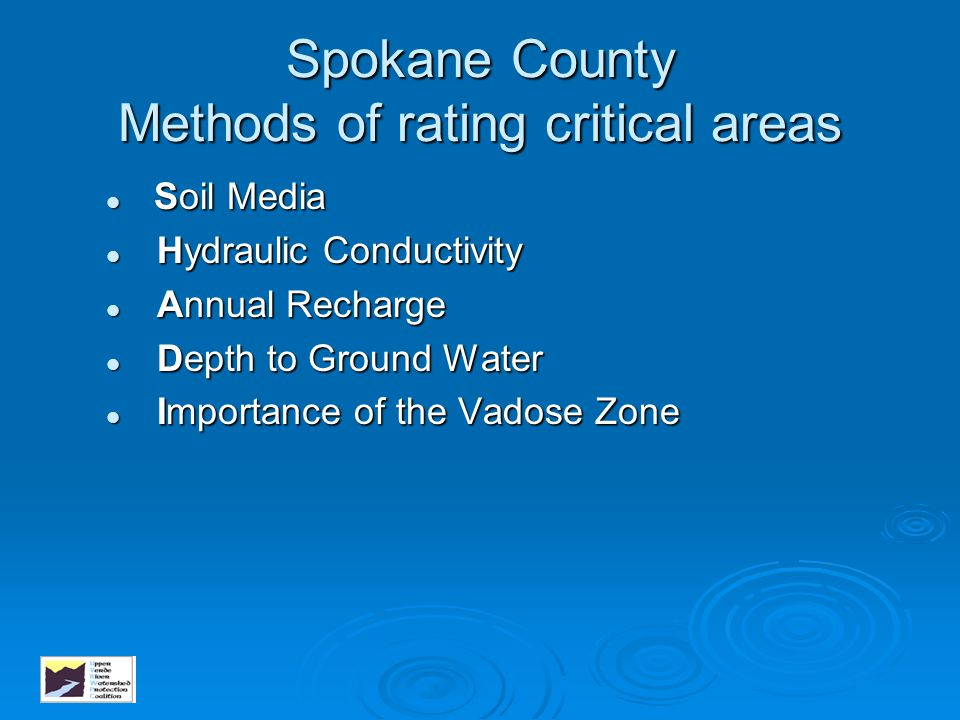 Spokane County Methods of rating critical areas