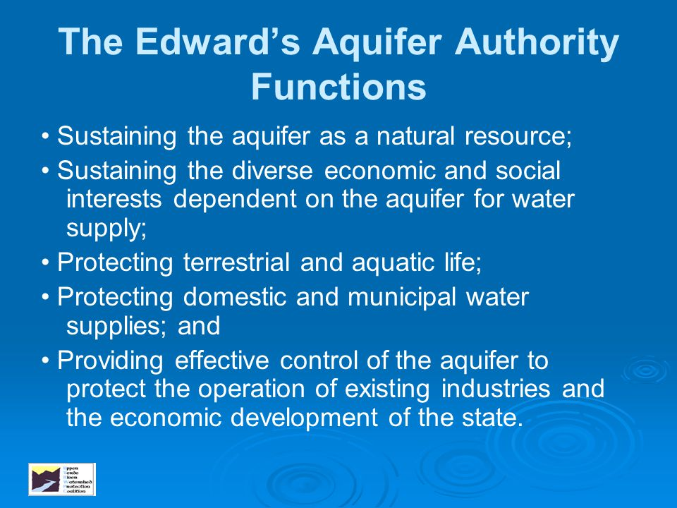 The Edward's Aquifer Authority Functions