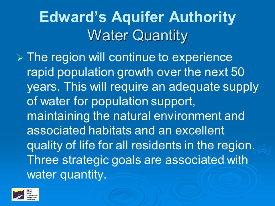 Edward's Aquifer Authority Water Quantity
