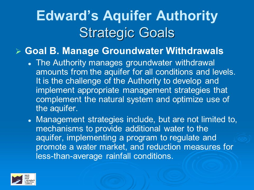 Edward's Aquifer Authority Strategic Goals