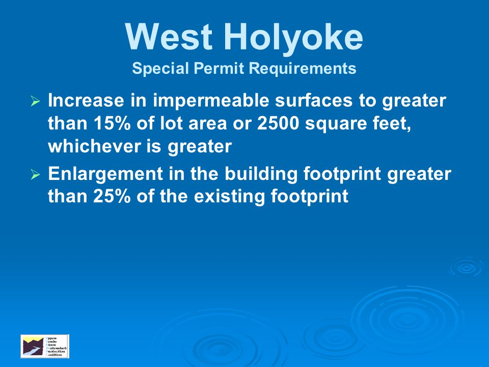 West Holyoke Special Permit Requirements