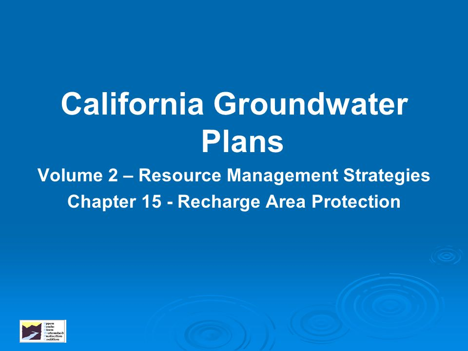 California Groundwater Plans