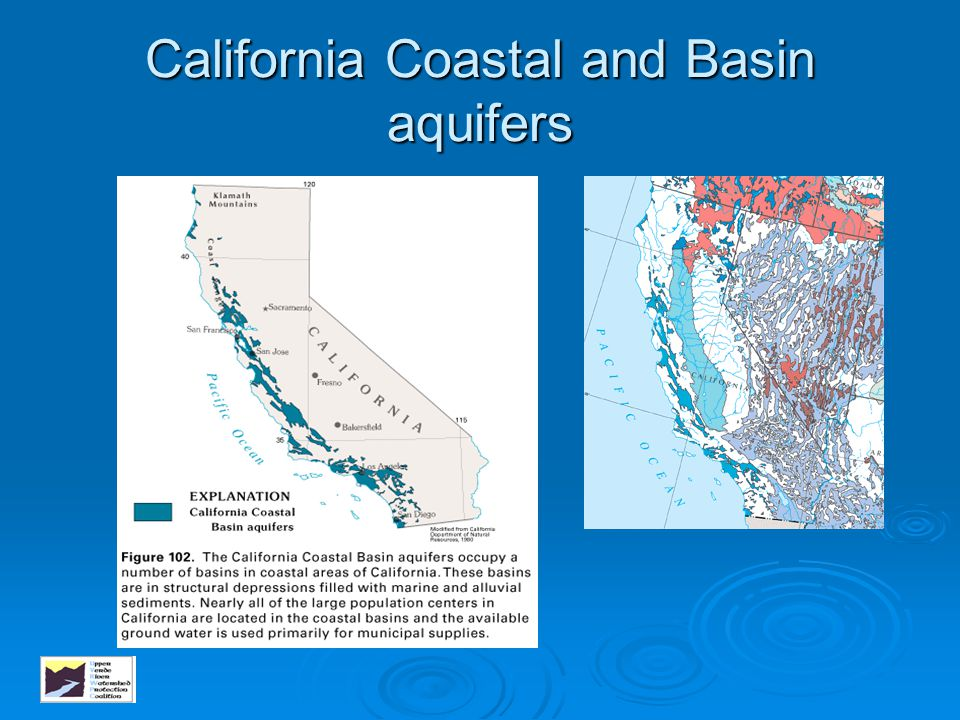 California Coastal and Basin aquifers