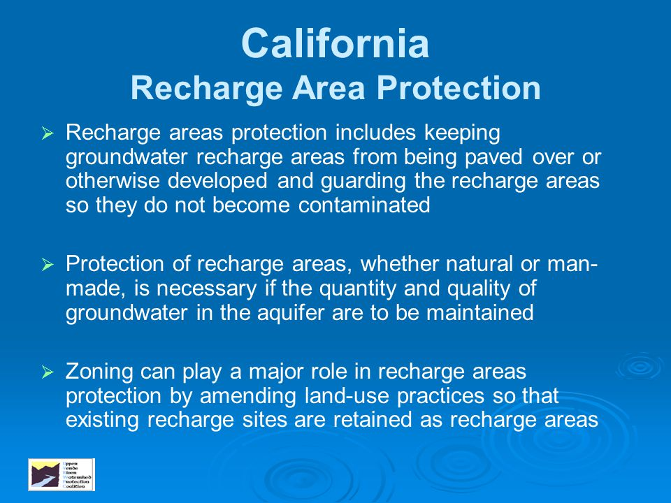 California Recharge Area Protection