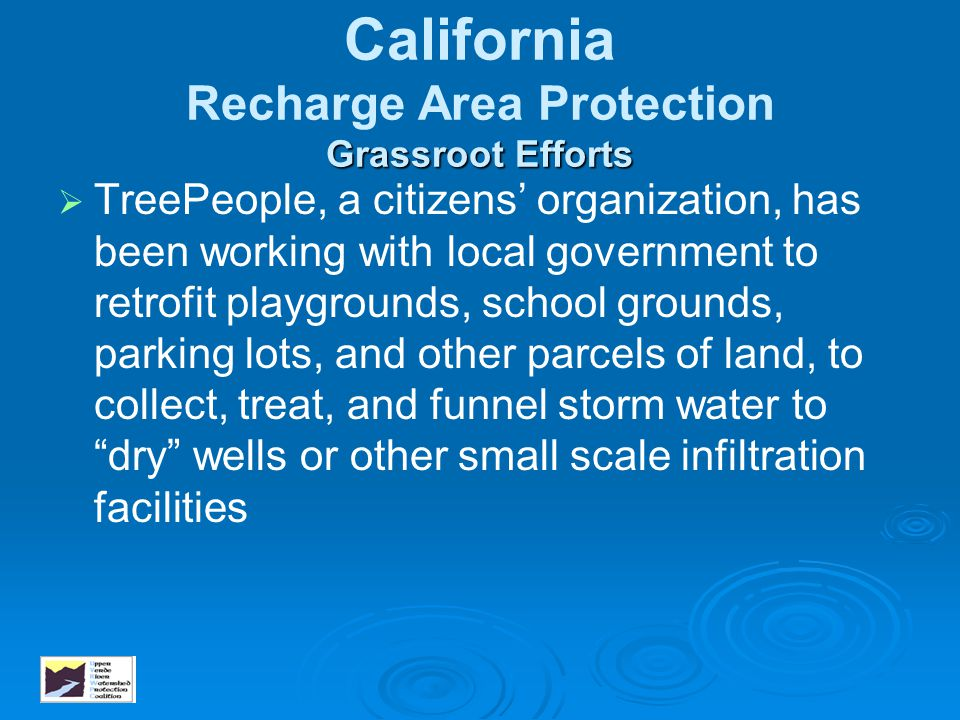 California Recharge Area Protection Grassroot Efforts