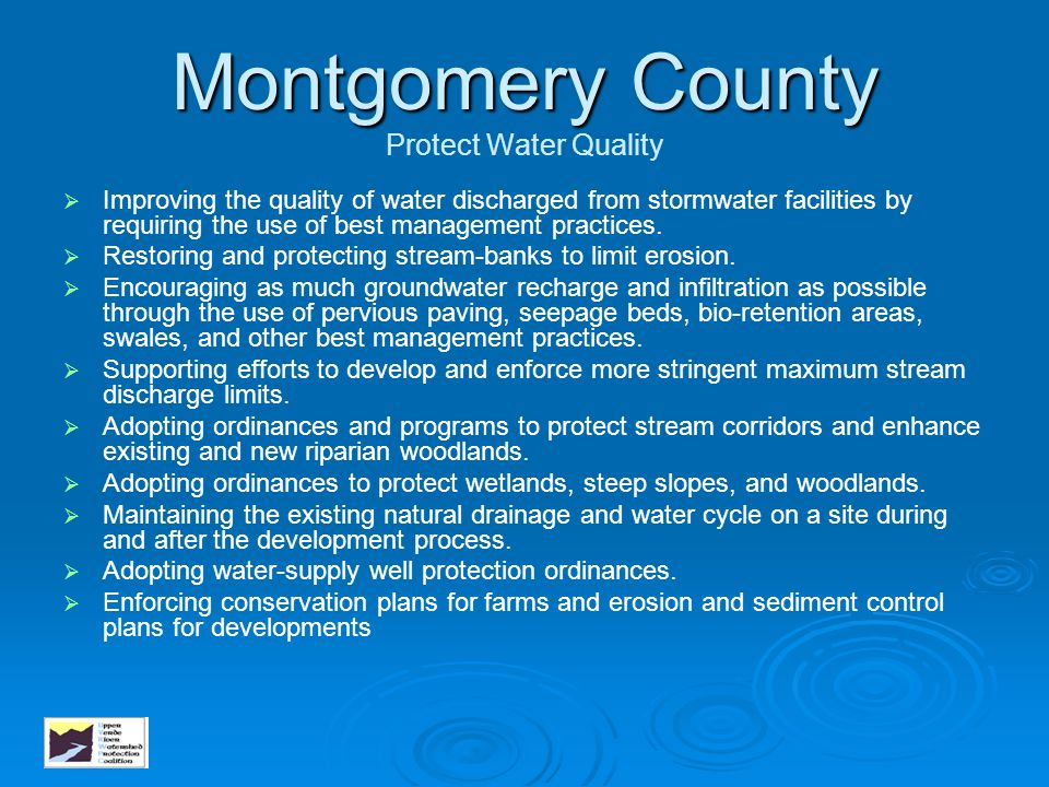 Montgomery County Protect Water Quality