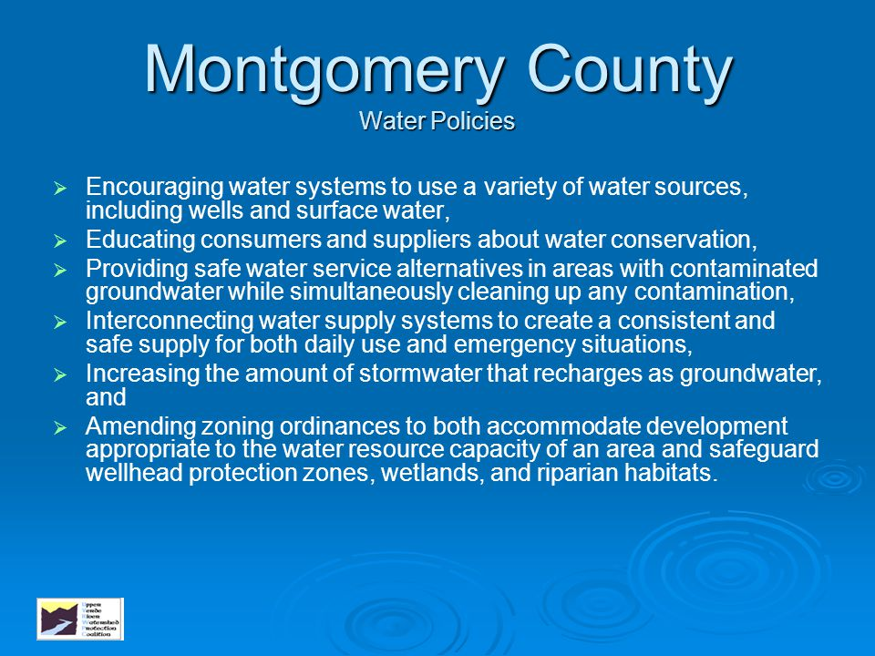 Montgomery County Water Policies