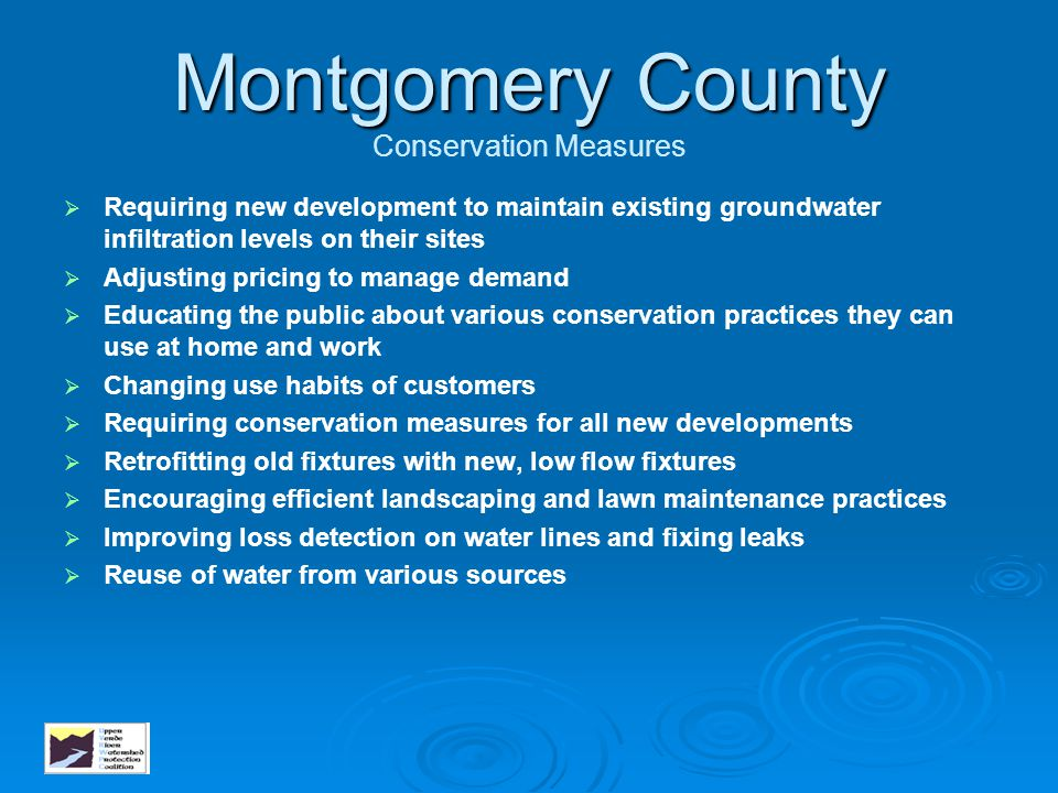 Montgomery County Conservation Measures