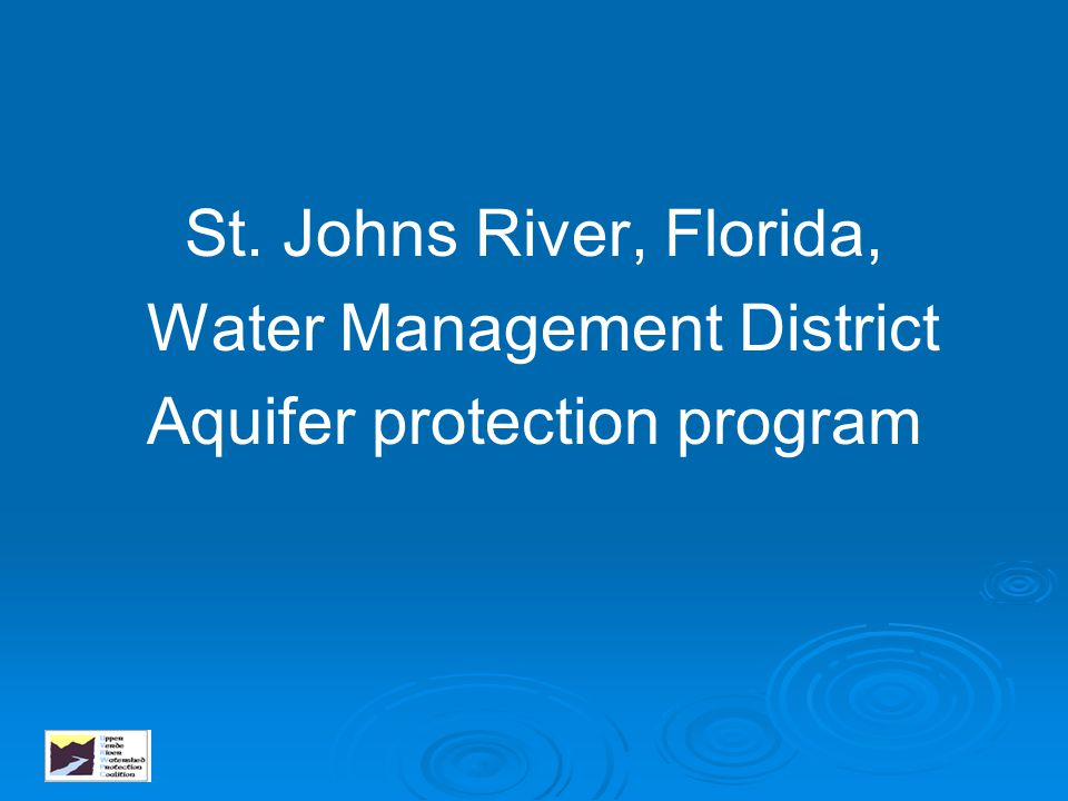 Water Management District Aquifer protection program