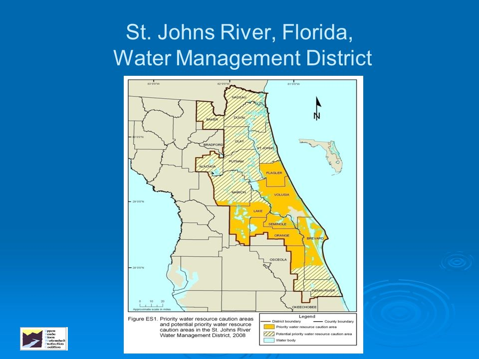 St. Johns River, Florida, Water Management District