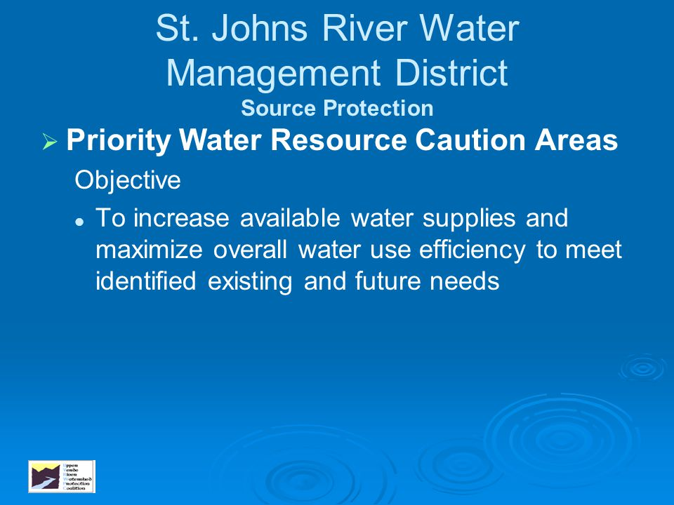 St. Johns River Water Management District Source Protection