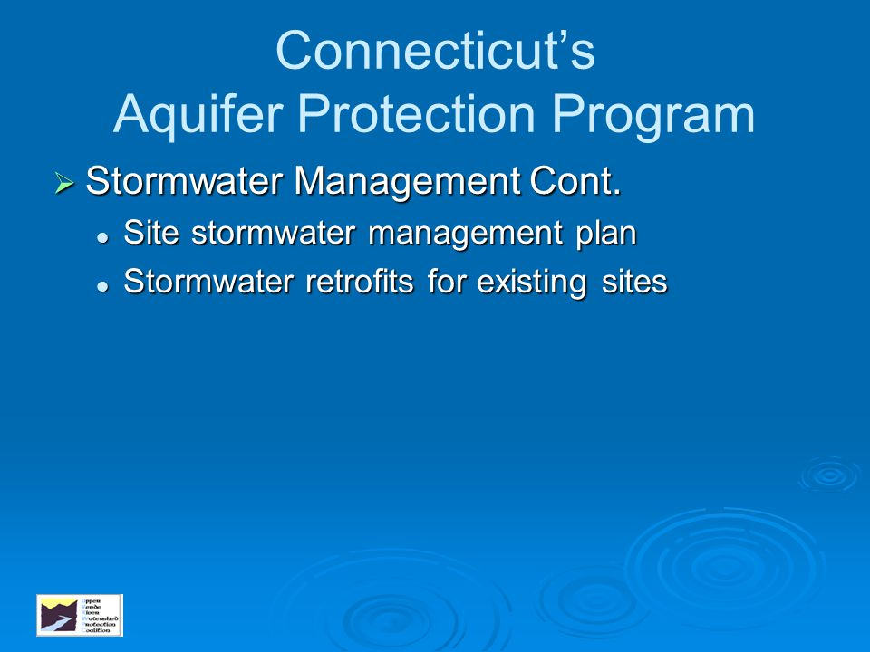 Connecticut's Aquifer Protection Program