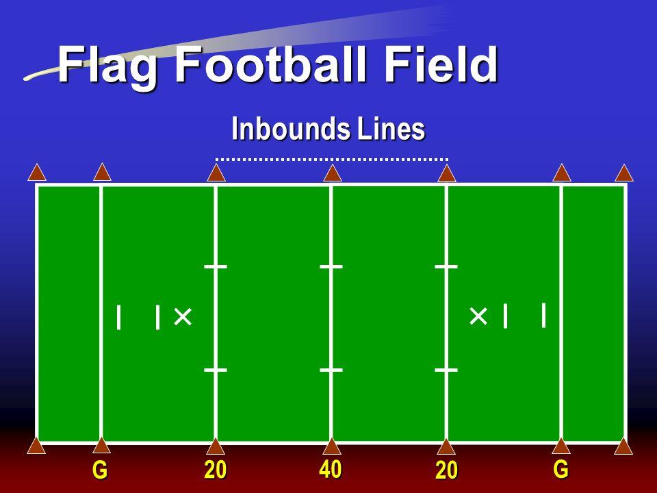 Flag Football Field Inbounds Lines G 20 40