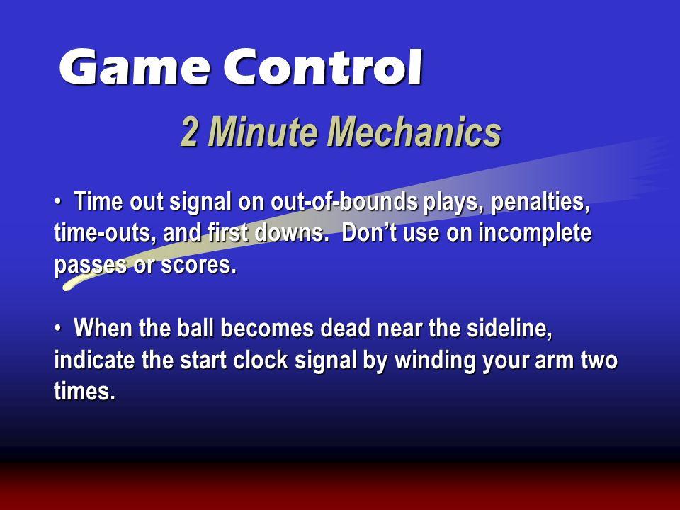 Game Control 2 Minute Mechanics