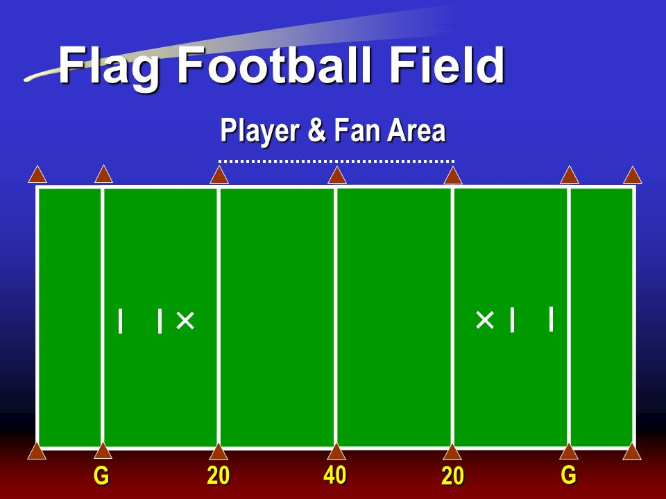 Flag Football Field Player & Fan Area G 20 40