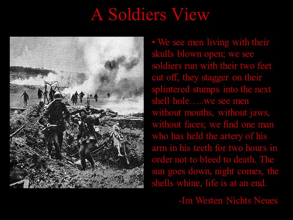 A Soldiers View
