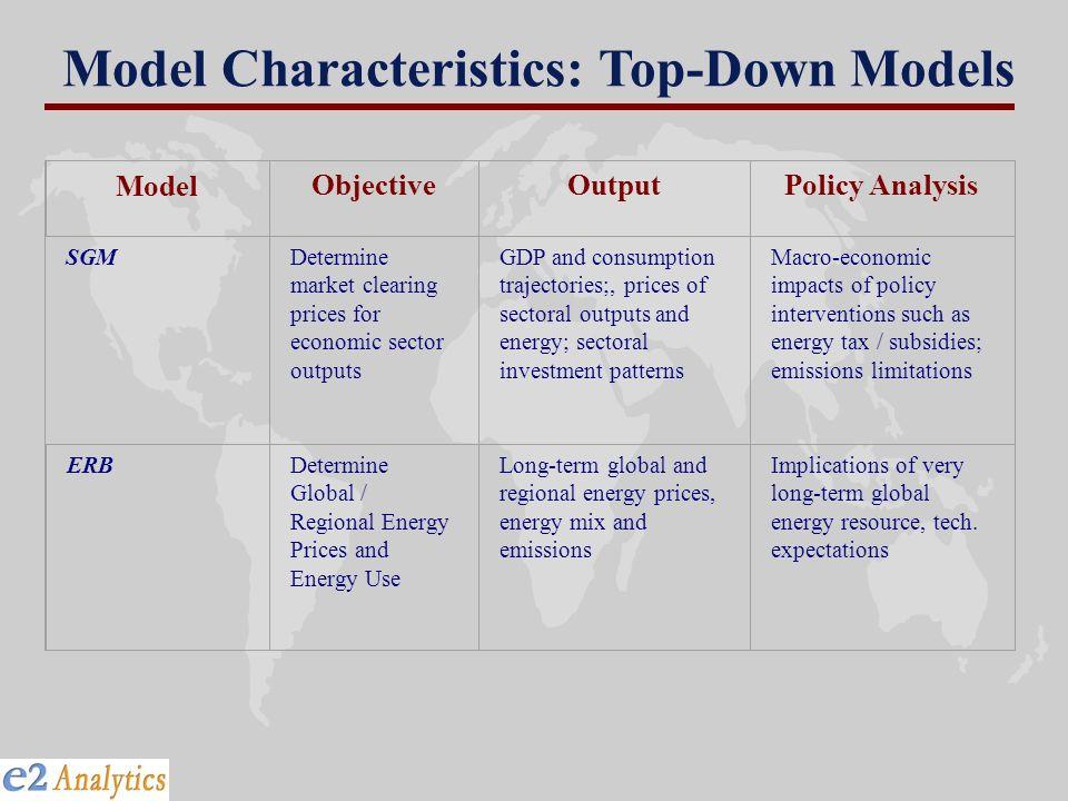 Model Characteristics: Top-Down Models