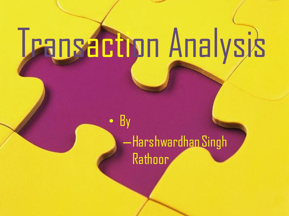 Transaction Analysis By Harshwardhan Singh Rathoor