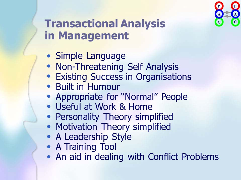 Transactional Analysis in Management