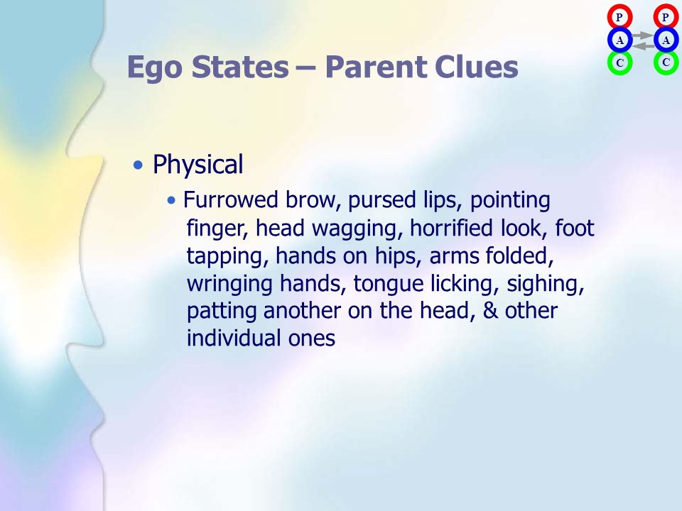 Ego States – Parent Clues