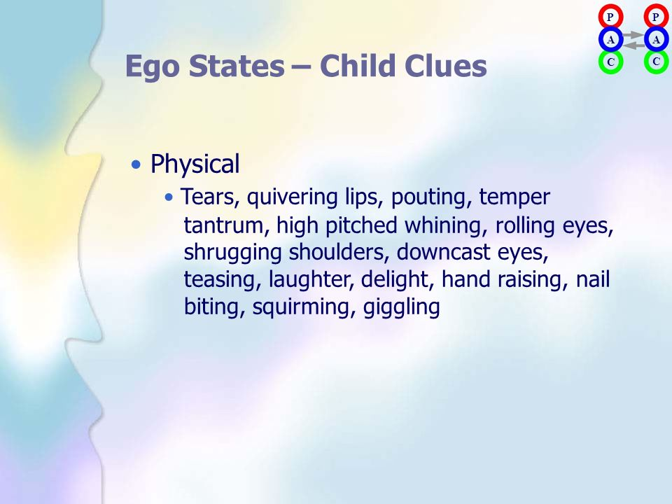 Ego States – Child Clues