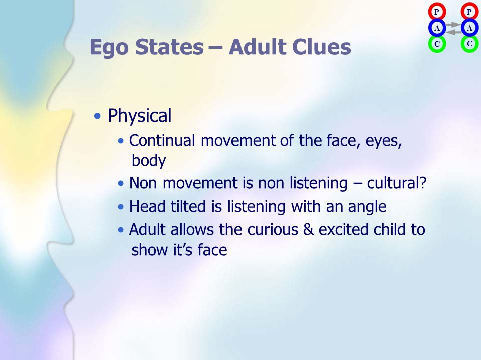 Ego States – Adult Clues