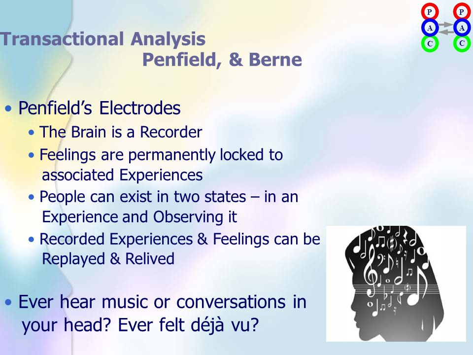Transactional Analysis Penfield, & Berne • Penfield's Electrodes
