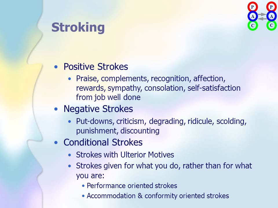 Stroking • Positive Strokes