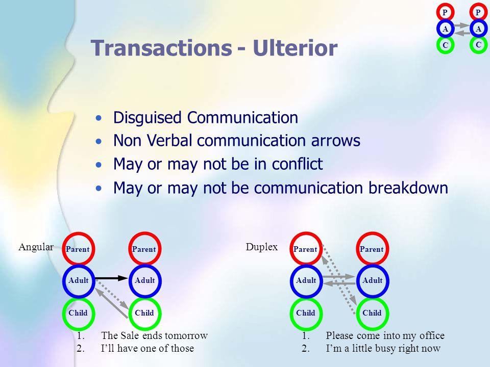 Transactions - Ulterior