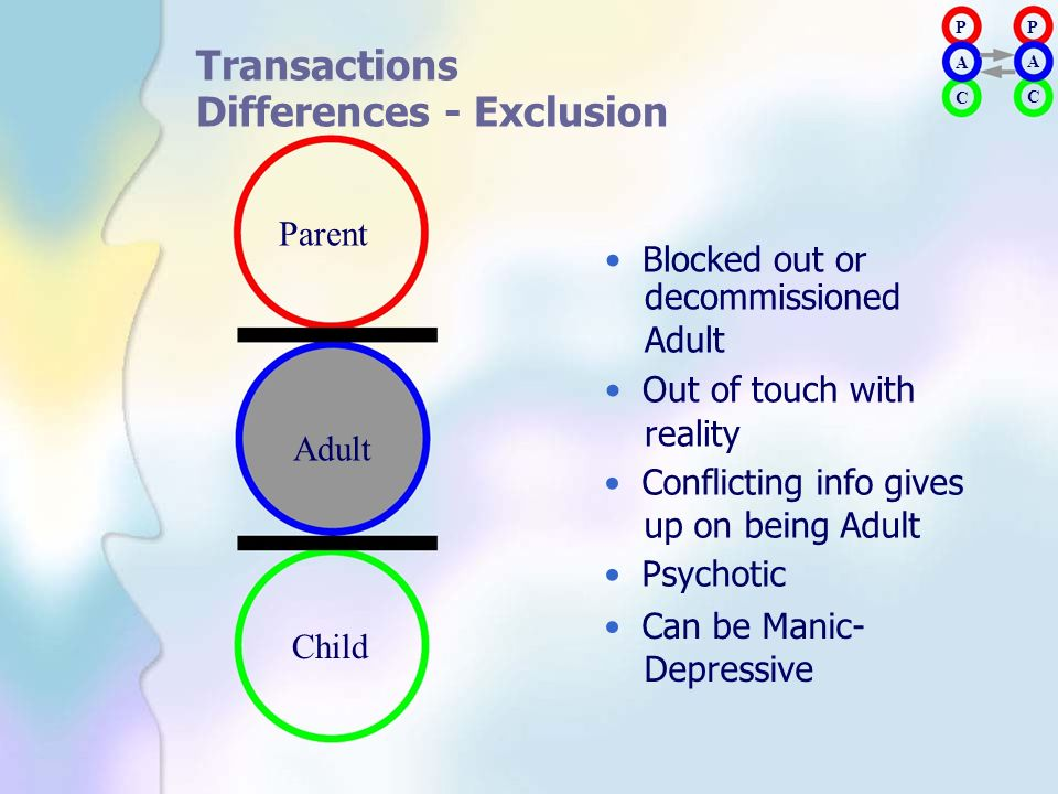 Differences - Exclusion Parent