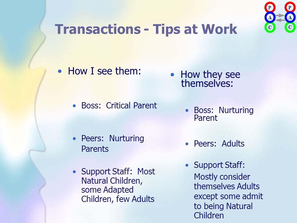 Transactions - Tips at Work