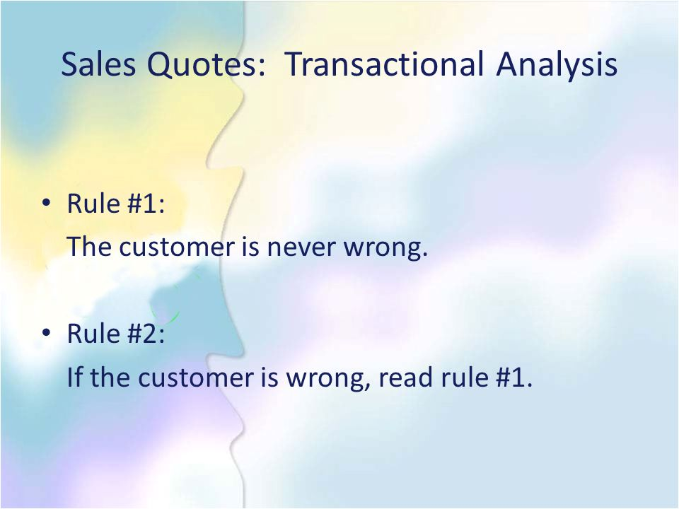 Sales Quotes: Transactional Analysis