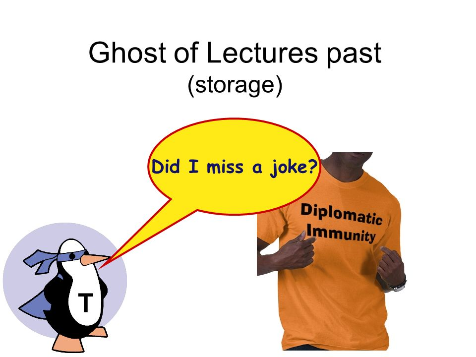 Ghost of Lectures past (storage)