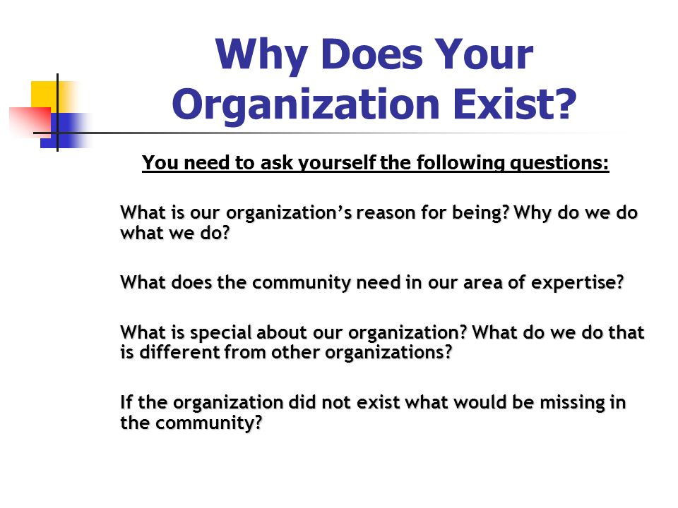 Why Does Your Organization Exist