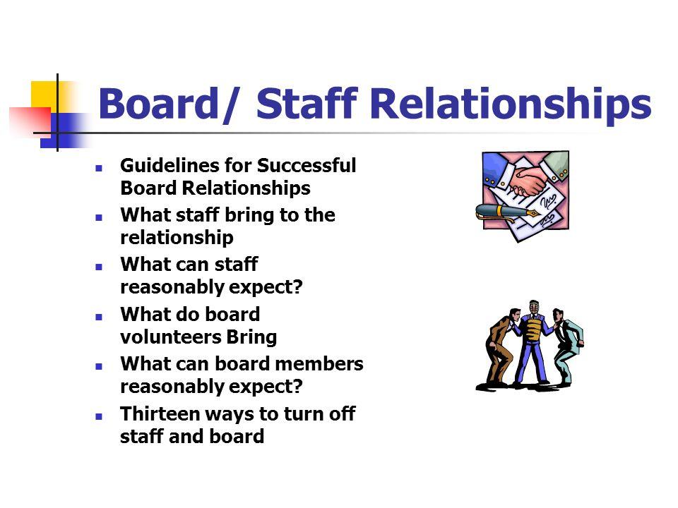 Board/ Staff Relationships