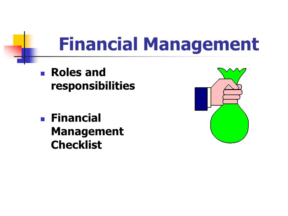 Financial Management Roles and responsibilities