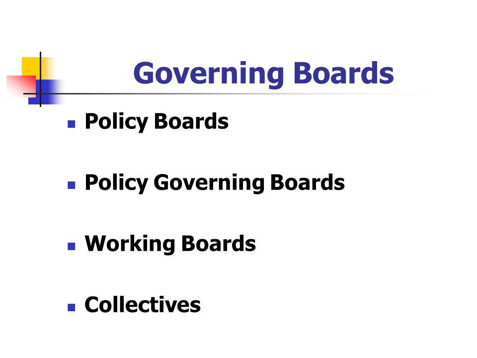 Governing Boards Policy Boards Policy Governing Boards Working Boards