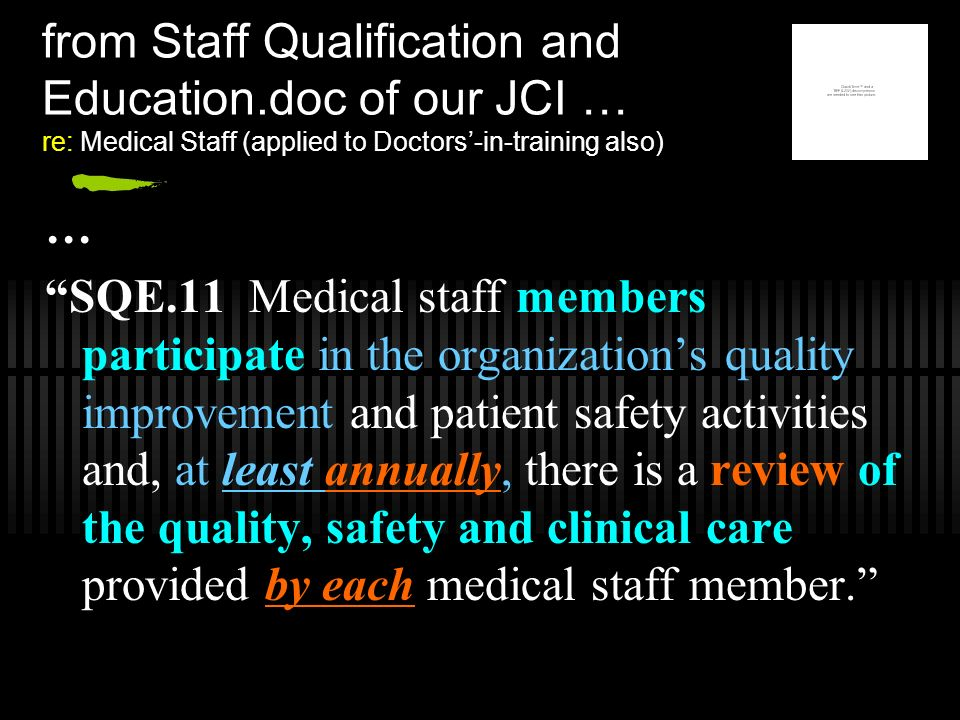 from Staff Qualification and Education