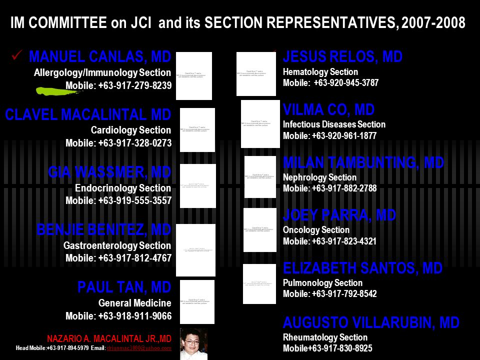 IM COMMITTEE on JCI and its SECTION REPRESENTATIVES, 2007-2008