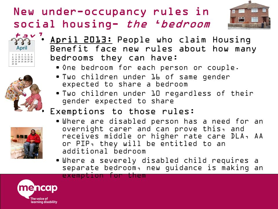 New under-occupancy rules in social housing- the 'bedroom tax'