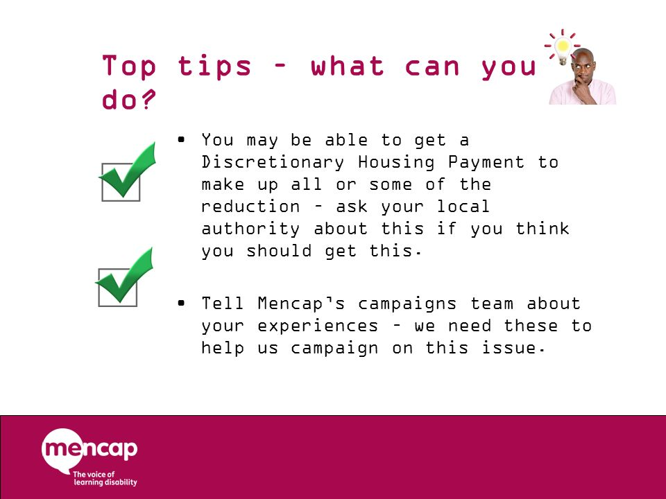 Top tips – what can you do
