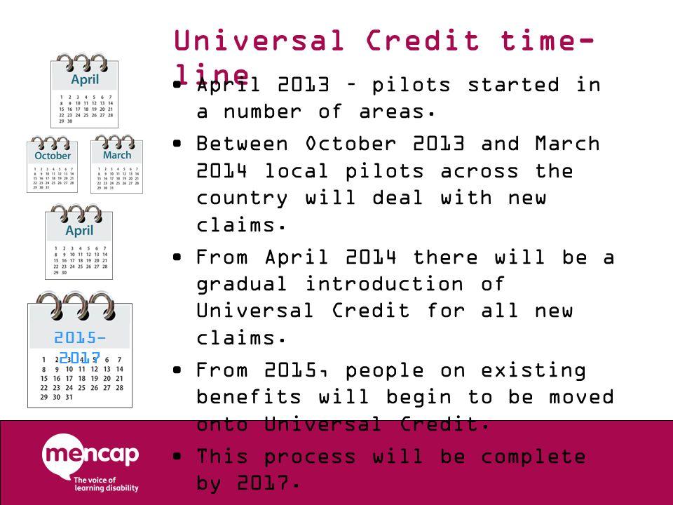 Universal Credit time-line