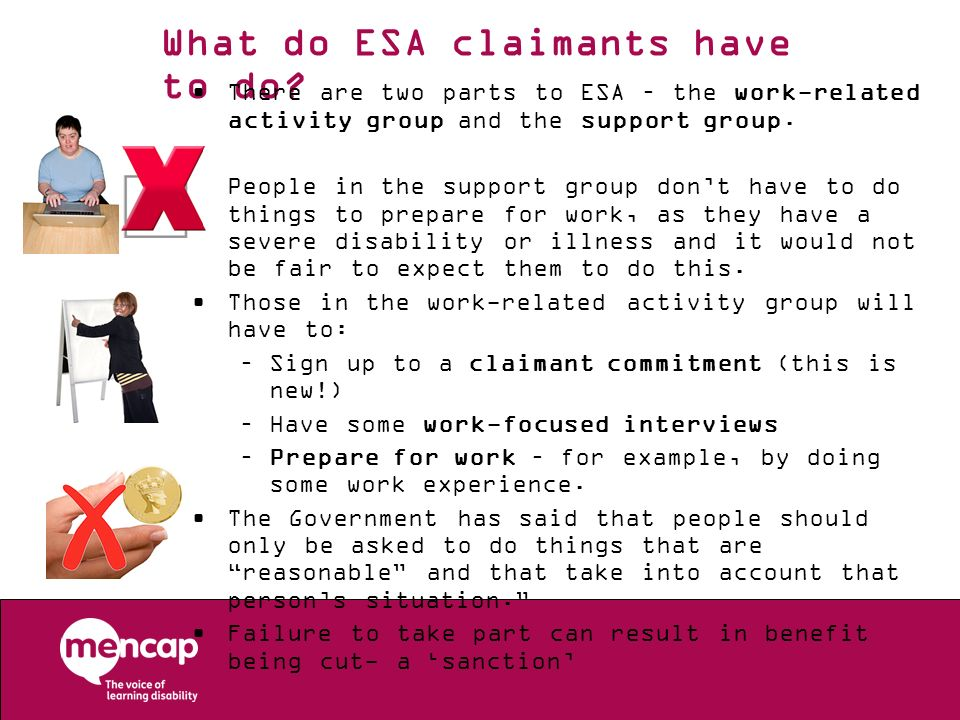 What do ESA claimants have to do