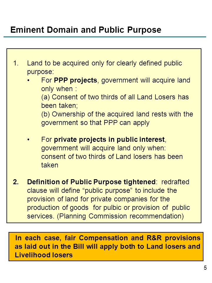 Eminent Domain and Public Purpose