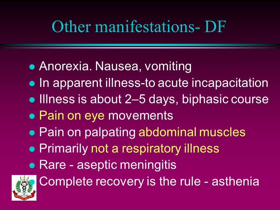 Other manifestations- DF