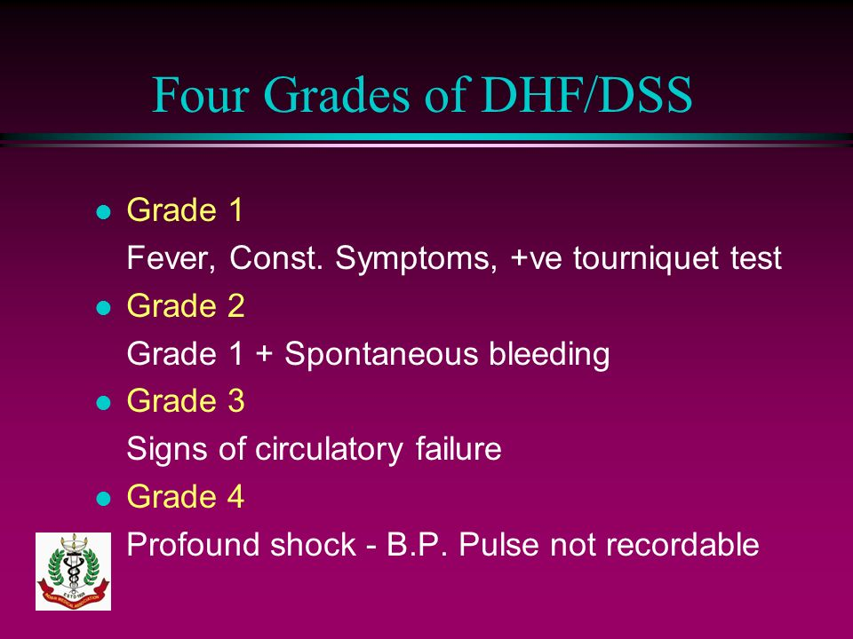 Four Grades of DHF/DSS Grade 1