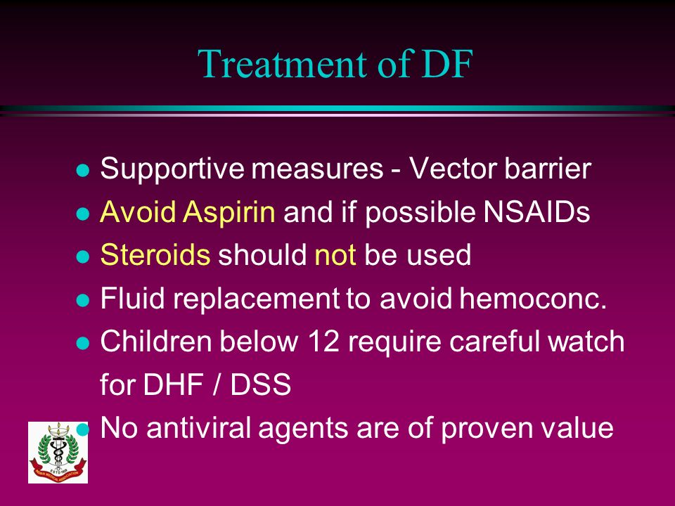 Treatment of DF Supportive measures - Vector barrier