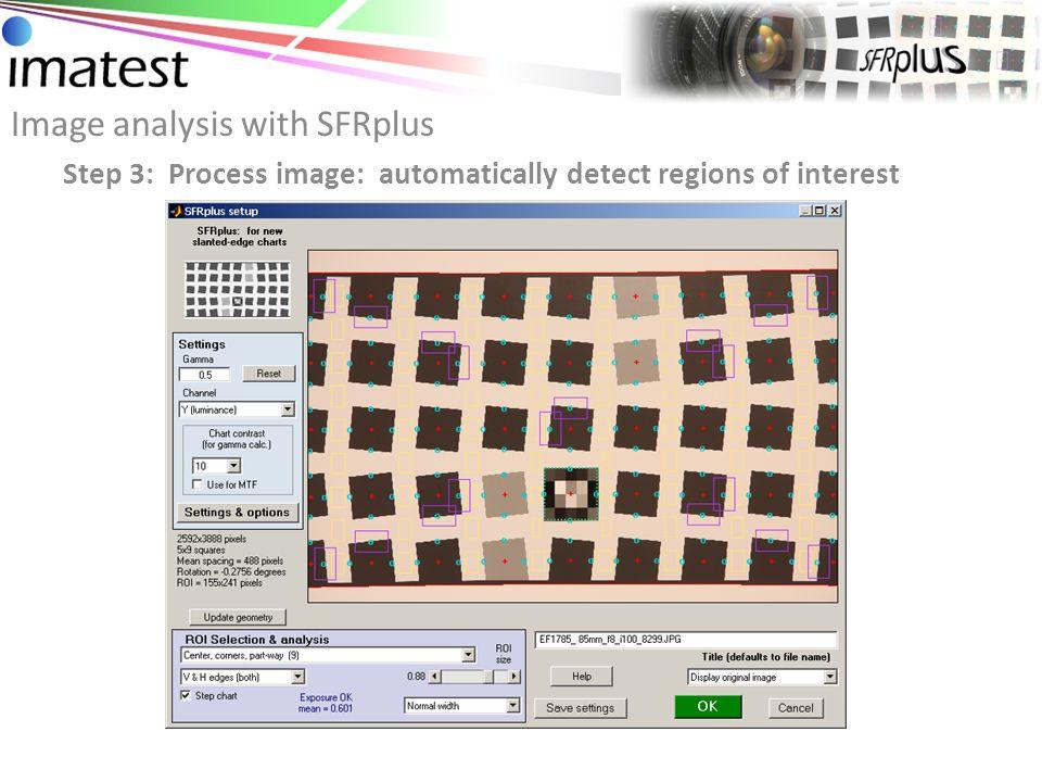 Image analysis with SFRplus